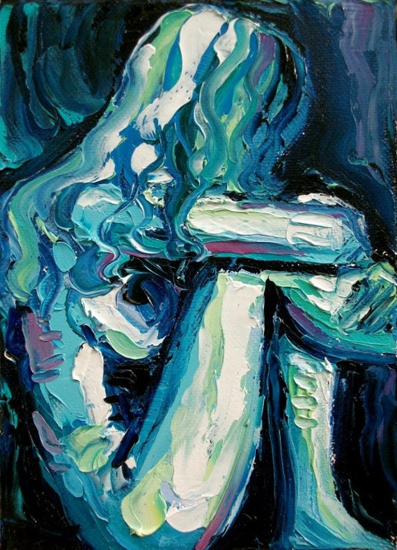 Abstract nude print reproduction by Aja Femme 87 18x24