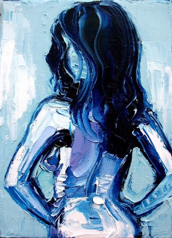 Amazon.com: Contemporary Nude Art PRINT - Femme 195 - Nude