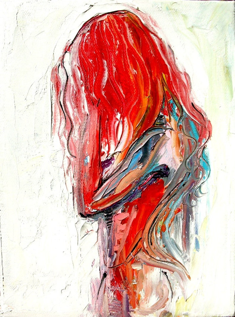 Abstract Nude print colorful art by Aja Silence 9x12 and