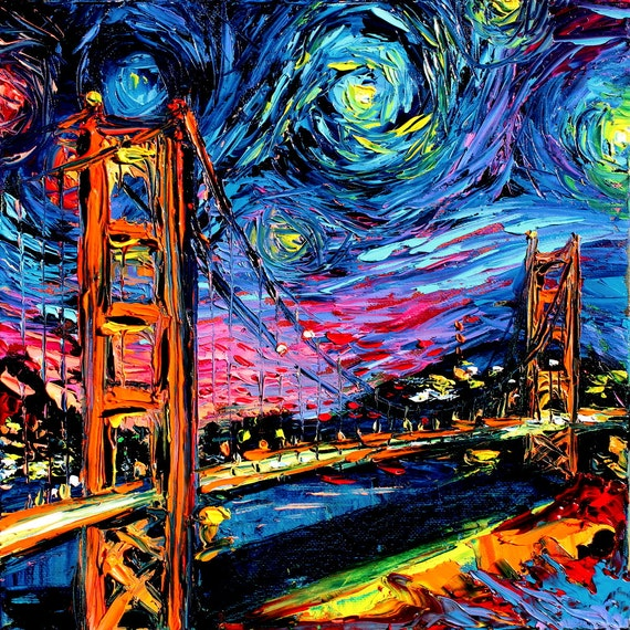 Van Gogh Never Saw Golden Gate Art Giclee Print Reproduction Etsy