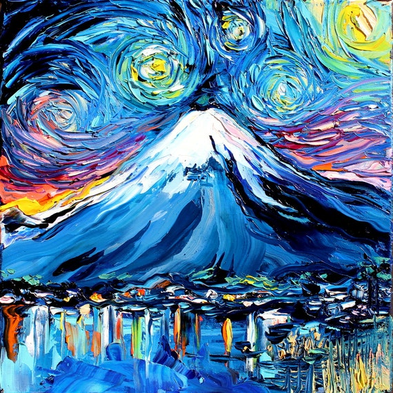 Van Gogh Never Saw Mount Fuji Art Giclee Print Reproduction Etsy