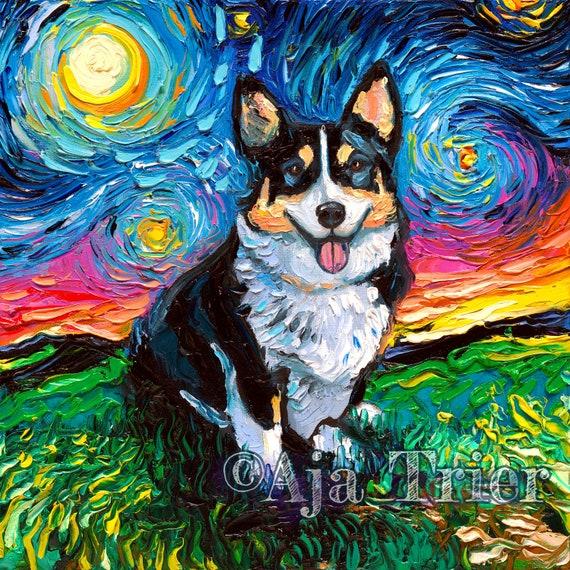 Corgi Wall Art Dog Wall Art Corgi Art Corgi Print Corgi Picture Corgi Artwork Corgi on Canvas Corgi Corgi Dog Art Print