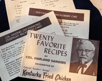 20 favorite recipes of Col Harland Sanders originator of Kentucky Fried Chicken Instant Download
