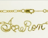 Show Your Love, Sweetheart Ankle Bracelet, Anklet, Brides Gift, Beach Wedding, Valentine Day, Personalized Just For You and Your Love, Wire