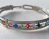 Birthstone Bracelet, Custom, Gold, Sterling Silver, Rose Gold, Handmade, Wire Wrapped, Wedding Gift, Birthday Gift, Family Tree Bracelet