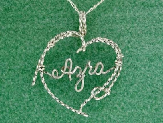 Personalized Lariat Rope Heart Necklace, Western, Ranch Life, Sterling Silver, Cowgirl Jewelry, Wedding Gift, Sweetheart, Valentine, Love