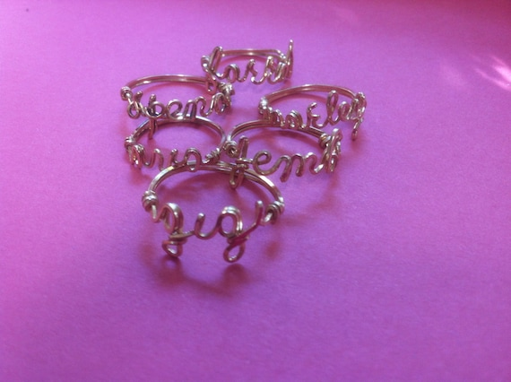 Personalized Handmade Gold Name Ring - Any Name
