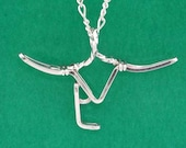 Ranch Brand Necklace in Gold, Sterling Silver, Rose Gold or Combinations - Custom Made to Your Specifications - Wire Wrap Jewelry - Rodeo