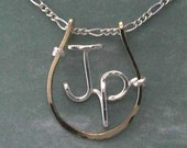 Horseshoe Necklace, Custom Made with any Name or Initials YOU Want, Equestrian, Rodeo, Western Pleasure, 4H, FFA, Horse Lover