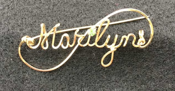 Scroll Pin, Brooch Pin, Custom Name Pin, Heirloom, Equestrian pin, Business Pin, Handwritten brooch, silver shawl pin, scarf pin