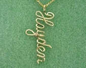 Personalized Name Drop Necklace in Sterling Silver