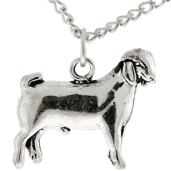 Sterling Silver Wether Goat, FFA Cowgirl Jewelry, 4H Goat Jewelry, Farm Animal Jewelry, Show Goat Necklace, Farm Girl, FFA, 4H, Livestock