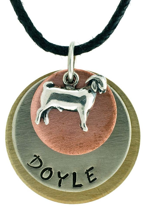 Stock Show & Farm Animal Name Necklaces with Adjustable Cord