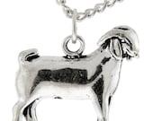 Sterling Silver Market Doe, Breeding Doe, FFA Cowgirl Jewelry, 4H Goat Jewelry, Farm Animal Jewelry, Show Goat Necklace, Farm Girl, FFA, 4H