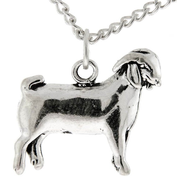 Sterling Silver Market Doe, Breeding Doe, FFA Cowgirl Jewelry, 4H Goat Jewelry, Farm Animal Jewelry, Show Goat Necklace, Farm Girl, FFA, 4H