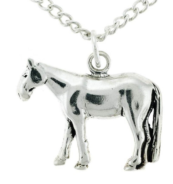 Sterling Silver Horse Charm and Chain, 4H, FFA, Rodeo, Stock Show, Appaloosa, Paint, Quarter Horse