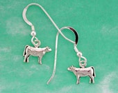 Stock Show Heifer Earrings in Sterling Silver - Free Chain
