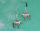Stock Show Mule Earrings in Sterling Silver