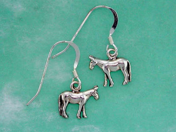 Stock Show Mule Earrings in Sterling Silver