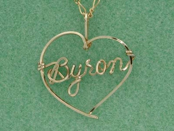 Heart Necklace with Any Name - Gold, Rose Gold, Combination Gold & Silver
