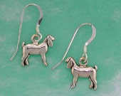 Stock Show Nanny Goat Earrings in Sterling Silver, Great Gift for FFA or 4 H