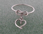 Personalized Dangle Ring in Sterling Silver