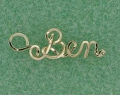 Personalied Belly Ring Charm in Gold or Silver