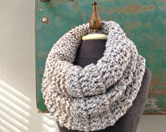 Double Down Cowl in Dove Gray, Oatmeal and Beige by Fringe