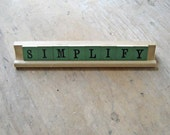 Simplify Go Green Vintage Anagrams Game Letters Tile Saying Eco Friendly