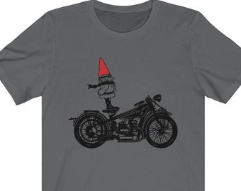 Wild Wolf Biker Mens PRINTED T-SHIRT Animal Cartoon Bike Funny Moon