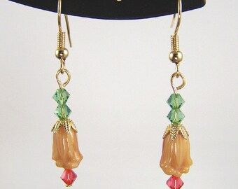 Tulips and Crystals Earrings
