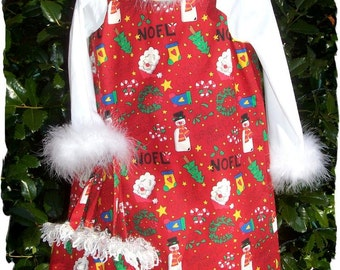 CLEARANCE SALE Red Christmas Collage Jumper & Matching Bag - Size 4T