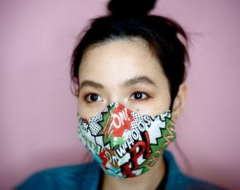4 layer custom face mask Reversible Washable Reusable Multiple Design unisex handmade by NENEEE