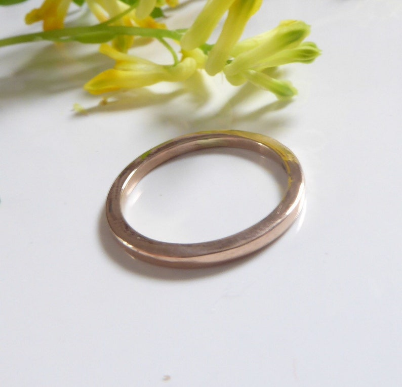 22k gold ring with square section, 22K wedding band,artisan handmade fine  gold ring, mans gold ring,unisex solid gold