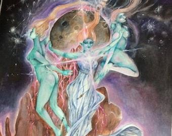 Sand Moon / Magic / Fantasy Art Print