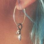 alien earring // mini grayleon