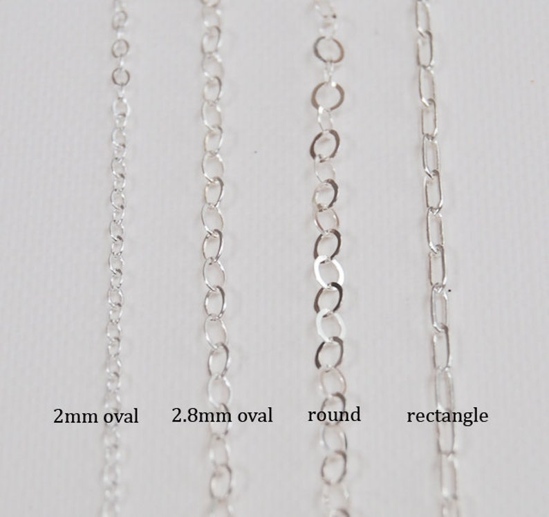 30 Inch SMALL OVAL Link Sterling Silver Chain