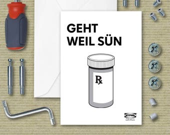 Get Well Greeting Card Ikea Instructions Parody - Medicine