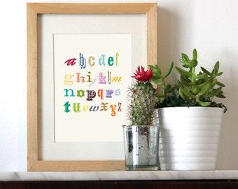 ABC Alphabet Print  5x7, 8x10 Print