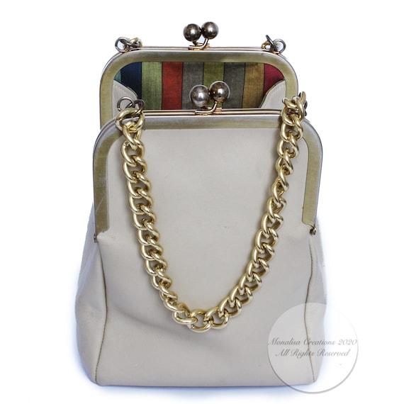 Bonnie Cashin for Coach Double Kiss Lock Bag Tote… - image 3