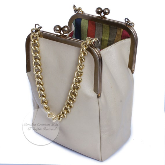 Bonnie Cashin for Coach Double Kiss Lock Bag Tote… - image 6