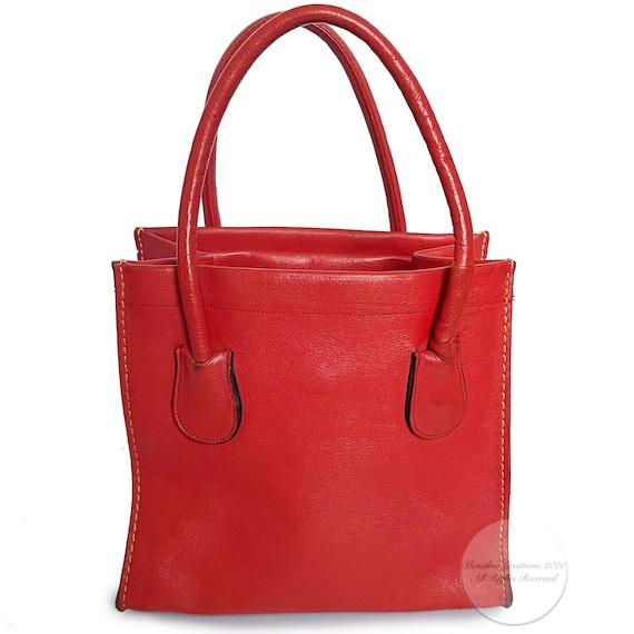 Vintage Bonnie Cashin for Coach Bag Red Leather D… - image 1