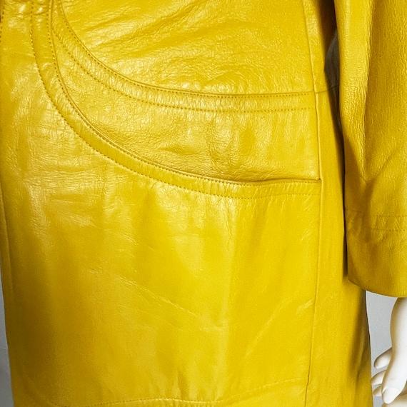 Bonnie Cashin for Sills Coat Mod Lemon Yellow Lea… - image 6