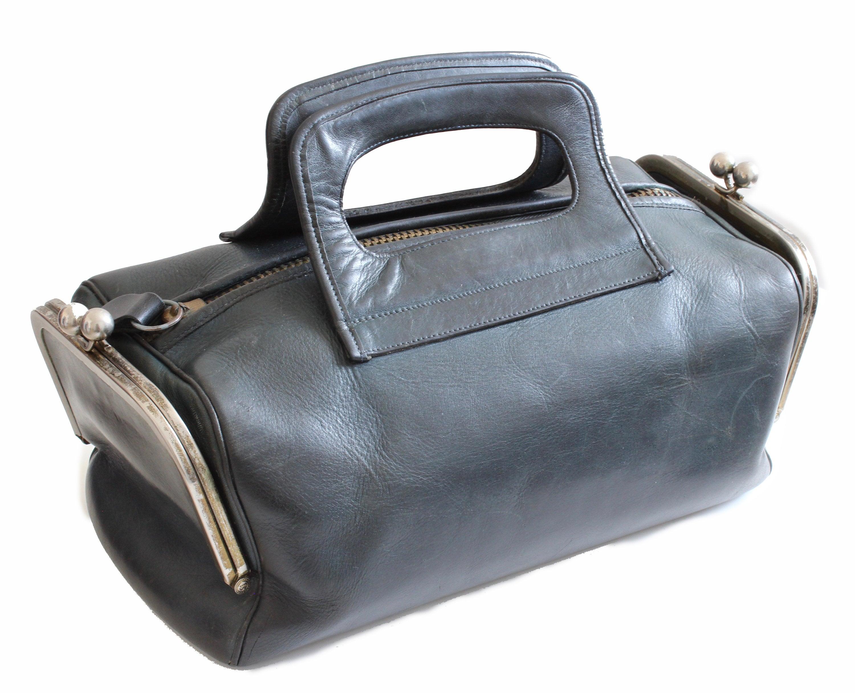 1d264cfde6a5 Bonnie Cashin for Coach Leather Tote Bag Double Header Kiss