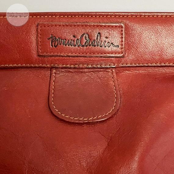 Bonnie Cashin Clutch Bag Brick Red Leather Hinge … - image 1