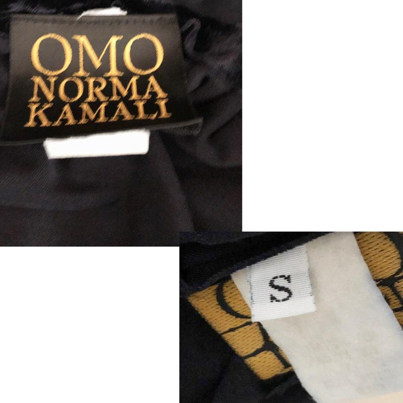 Norma Kamali OMO Catsuit Jumpsuit Crushed Velvet Size S Vintage 80s