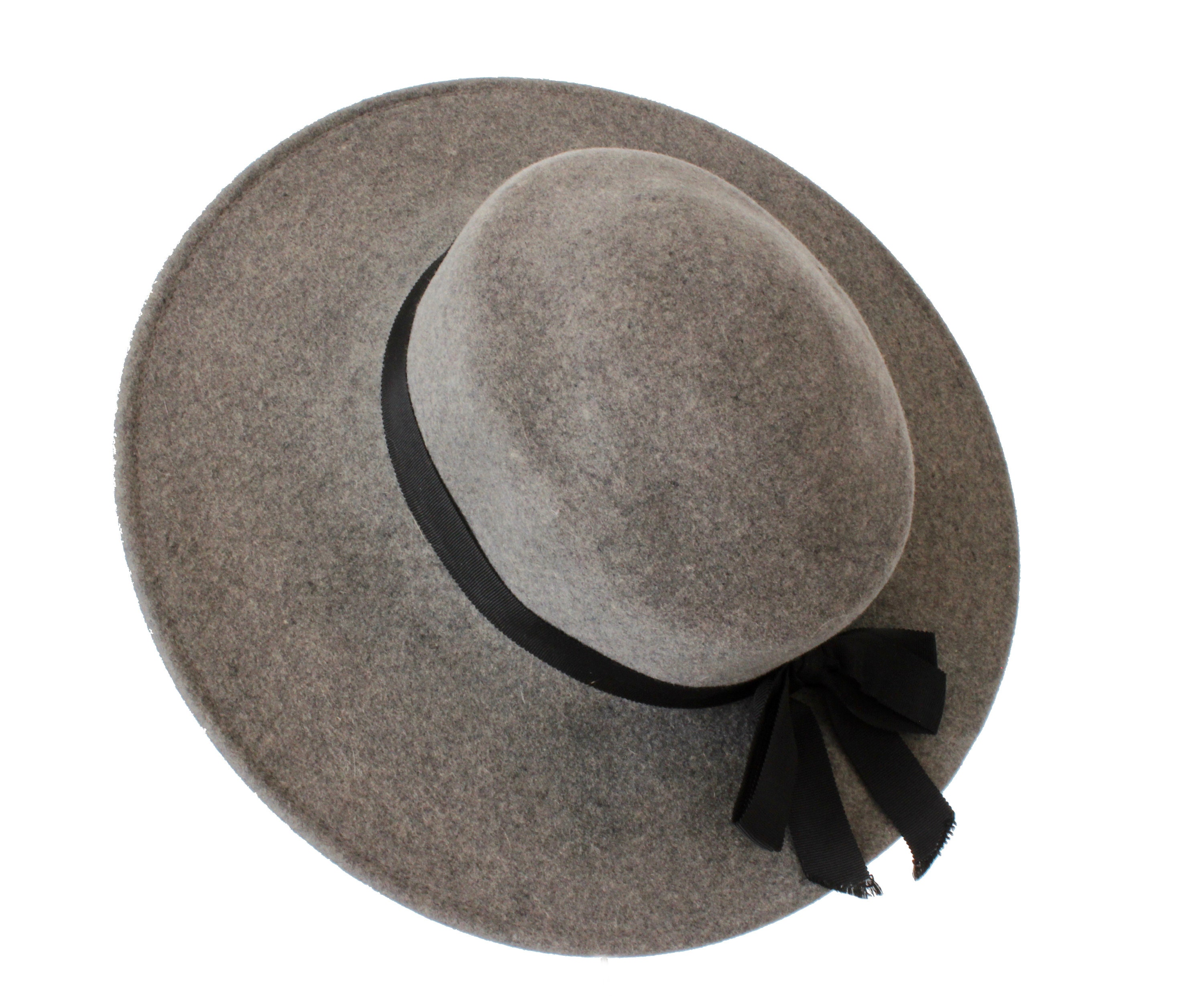 9e4ad9abc90 70s Yves Saint Laurent Wide Brim Hat Gray Wool by Bollman Hat