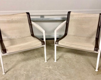 Richard Schultz 1966 Collection Lounge Chairs MCM 2 Piece Set Need REPAIRS Local Pick Up Only Vintage