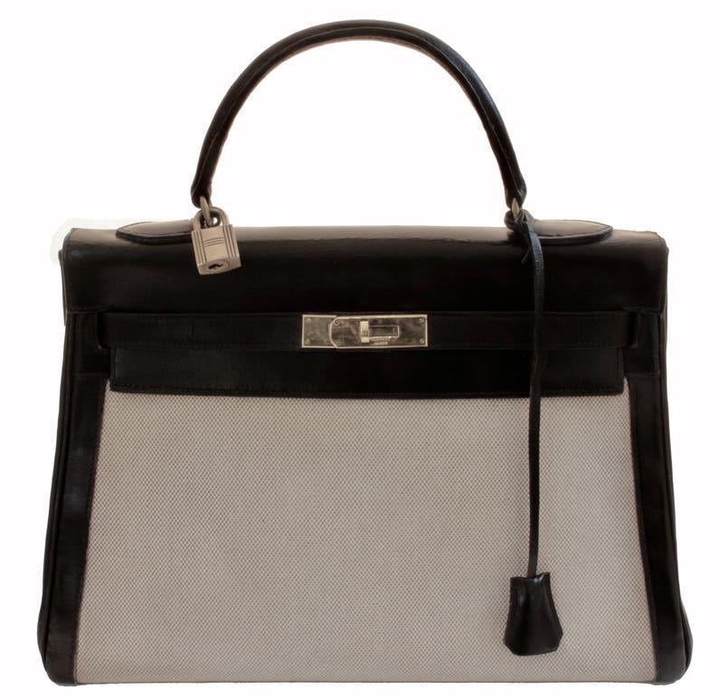 3a41aa2ecc Vintage Hermes Kelly Bag 32cm Sac a Depeches Retourne Black | Etsy