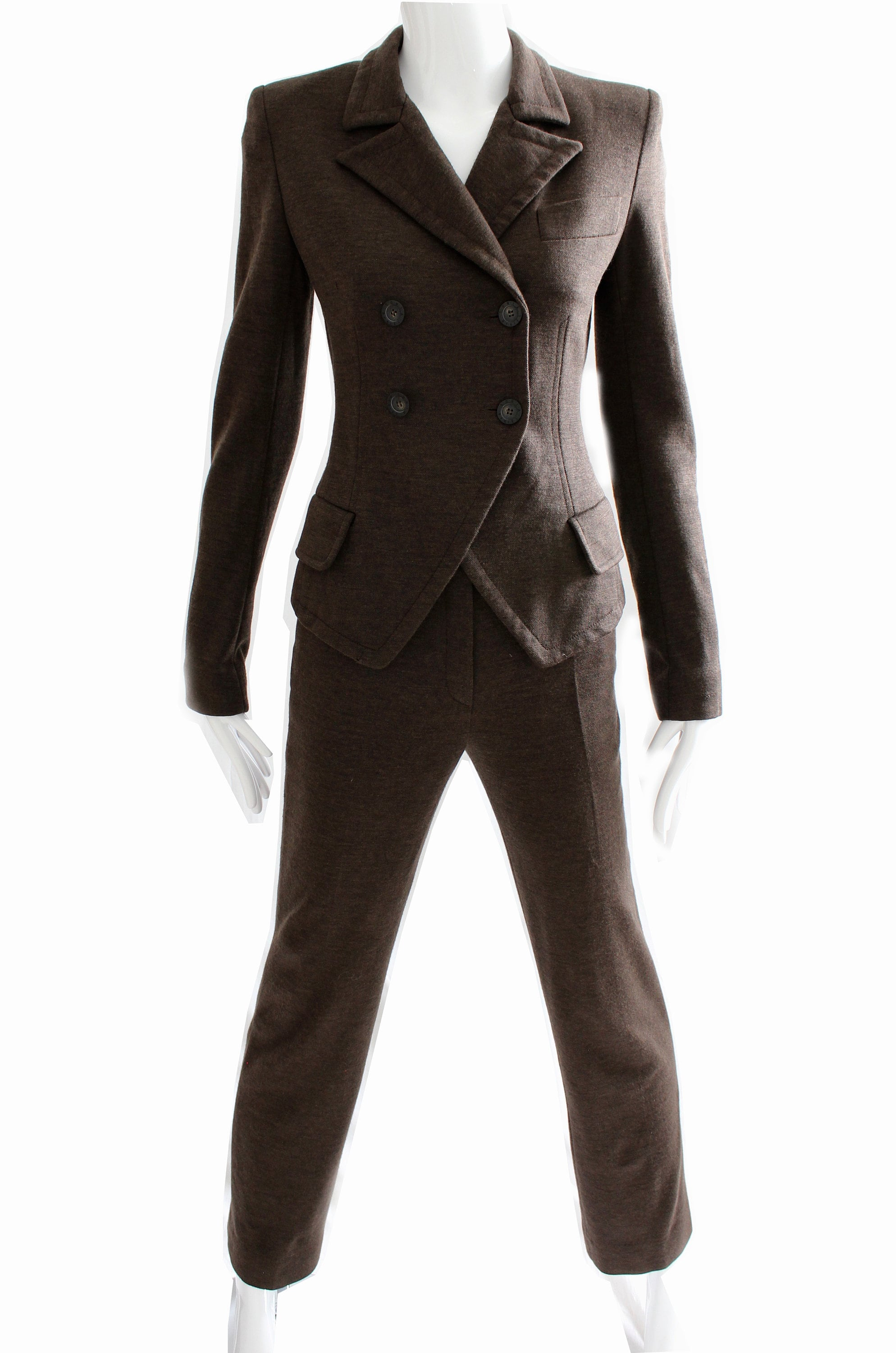 1531446c79 Sonia Rykiel Brown Knit Pantsuit 2pc Numbered Haute Couture Sz | Etsy